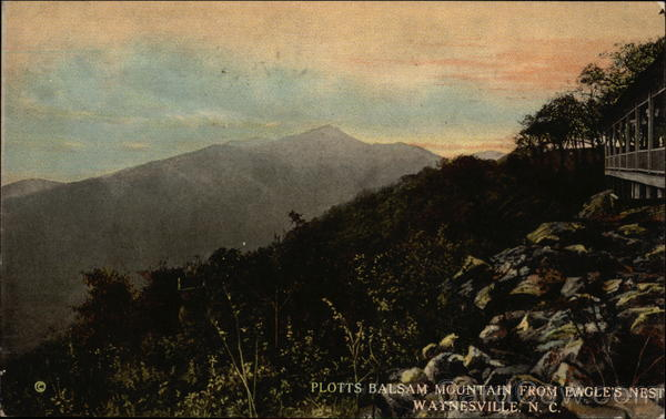 Plotts Balsam Mountain from Eagle's Nest Waynesville North Carolina