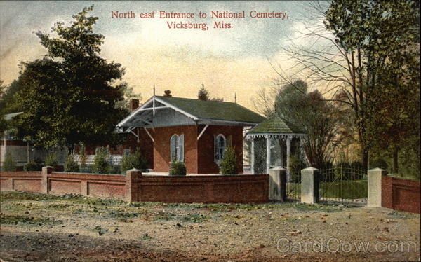 Northeast Entrance to National Cemetery Vicksburg Mississippi