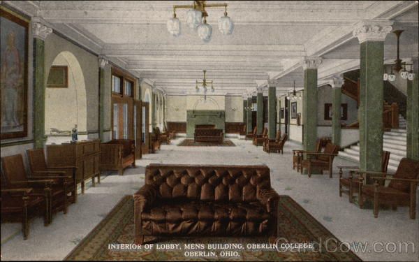 Interior of Lobby, Mens Building, Oberlin College Ohio