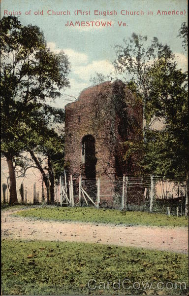Ruins of Old Church (First English Church in America) Jamestown Virginia