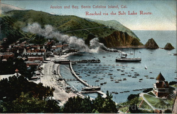 Avalon and Bay Santa Catalina Island California