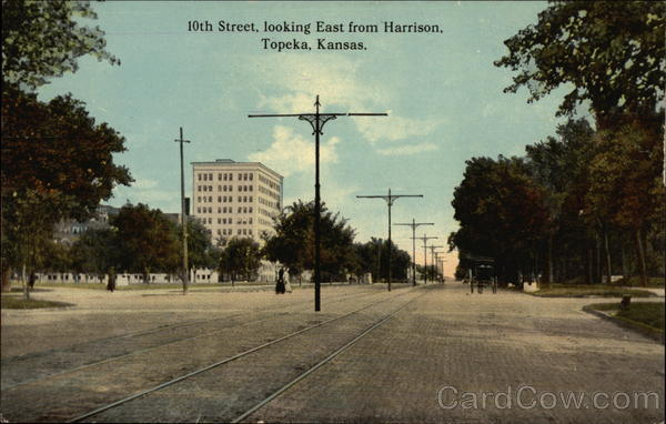 10th Street, looking East from Harrison Topeka Kansas