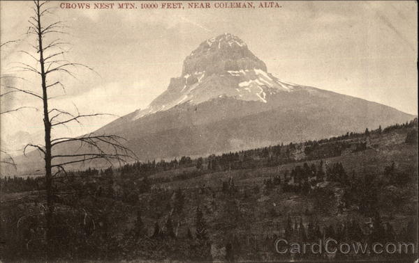Crows Nest Mtn., 10000 Feet Coleman Canada Alberta
