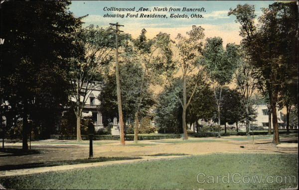 Collingwood Ave., North from Bancroft, showing Ford Residence Toledo Ohio