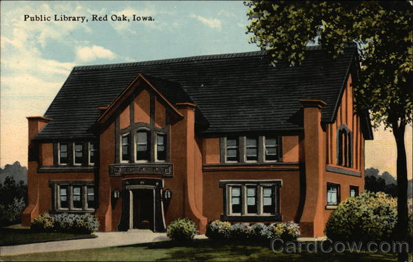 Public Library Building Red Oak Iowa