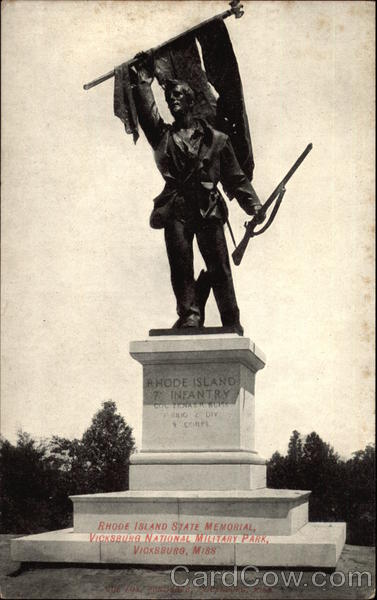 Rhode Island State Memorial, Vicksburg National Military Park Mississippi