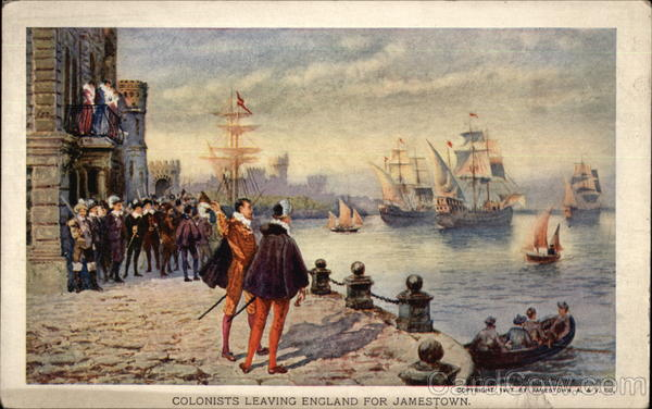 Colonists Leaving England for Jamestown 1907 Jamestown Exposition