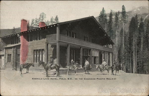 Emerald Lake Hotel, on the Canadian Pacific Railway Field Canada