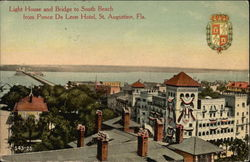 Light House and Bridge to South Beach from Ponce De Leon Hotel