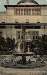 The Fountain in Court, Ponce De Leon Hotel