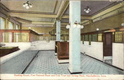 Banking Room, First National Bank and First Trust and Savings Bank