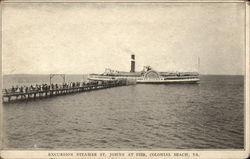 Excursion Steamer St. Johns at Pier
