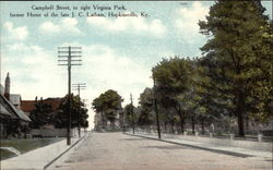 Campbell Street, to right Virginia Park, former Home of the late J. c. Latham
