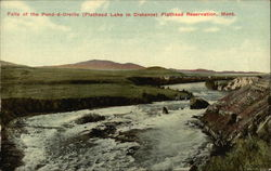 Falls of the Pend-d-Oreille, Flathead Lake in Distance