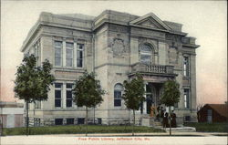 Free Public Library Postcard