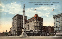 Soldiers' and Sailors' Monument and Allen Hotel, Centre Square