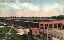 View of Santa Fe Railroad Car Repair Shops