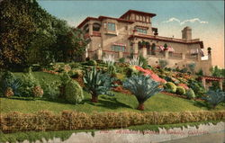View of a Hillside Residence & Gardens