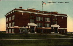 View of High School Building Postcard