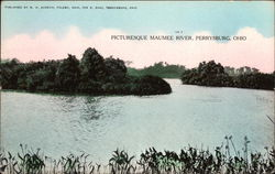 Picturesque Maumee River Postcard