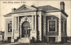 Public Library Building Postcard