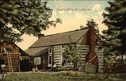 View of Grant's Cabin Postcard