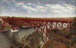 New Bridge Over Mississippi River Postcard