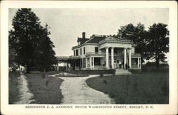 Residence J.A. Anthony, South Washington Street