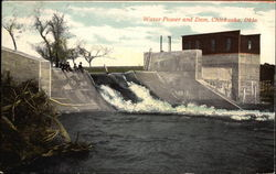 Water Power and Dam Postcard