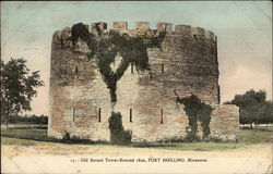 Old Round Tower-Erected 1820 Postcard