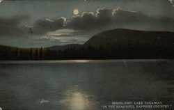 "Moonlight on the Lake ""In The Beautiful Sapphire Country"""