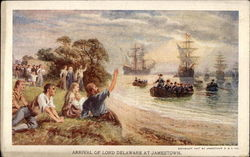 Arrival of Lord Delaware at Jamestown