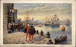 Colonists Leaving England for Jamestown