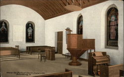 Interior Old Blanford Church (Erected in 1735)