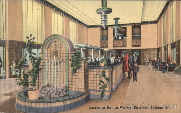 Interior of Hall of Waters Excelsior Springs Missouri