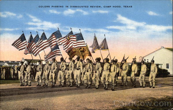 Colors Passing in Dismounted Review, Camp Hood Fort Hood Texas