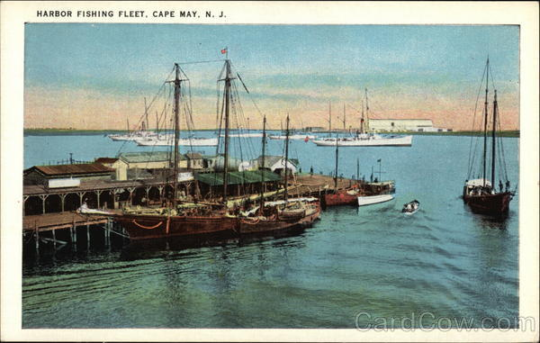 Harbor Fishing Fleet Cape May New Jersey