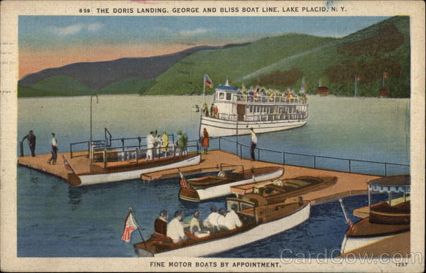 The Dock Landing, George and Bliss Boat Line Lake Placid New York