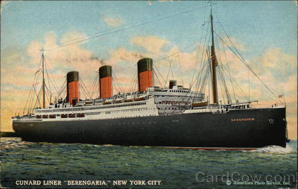 Cunard Liner Berengaria New York City