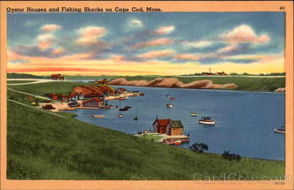 Oyster House and Fishing Shacks Cape Cod Massachusetts