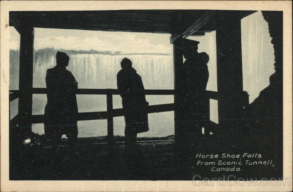 Horse Shoe Falls from Scenic Tunnel Niagara Canada