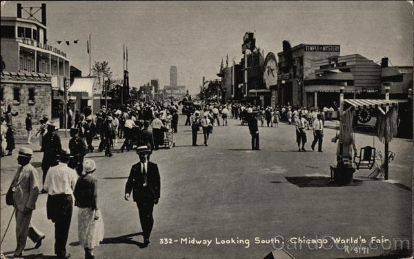 Midway Looking South - Chicago 1933 World's Fair 1933 Chicago World Fair