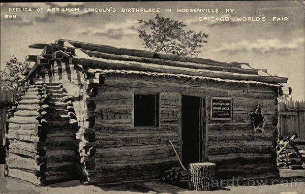 Replica of Abraham Lincoln's Birthplace Hodgenville Kentucky