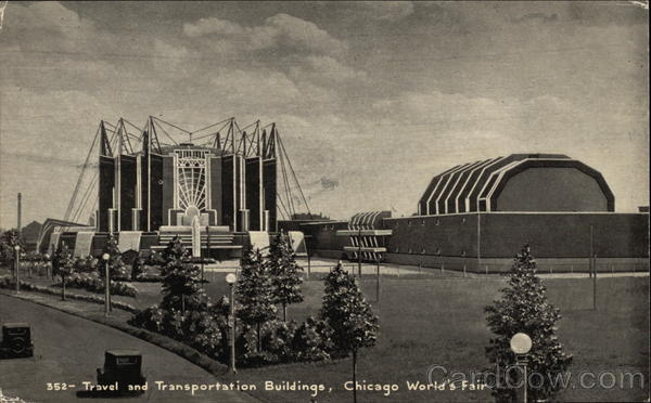 Travel and Transportation Buildings, Chicago World's Fair Illinois