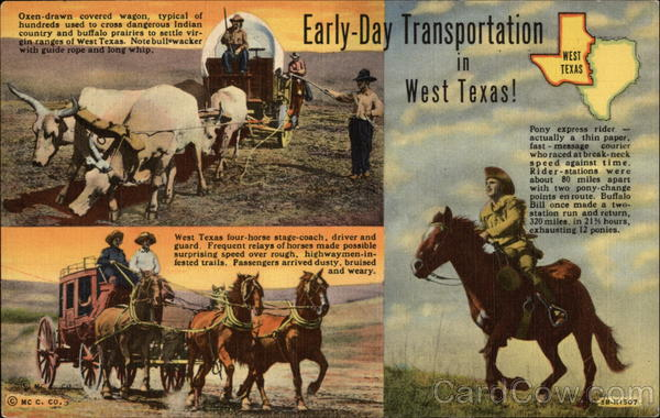 Early-Day Transportation in West Texas Cowboy Western