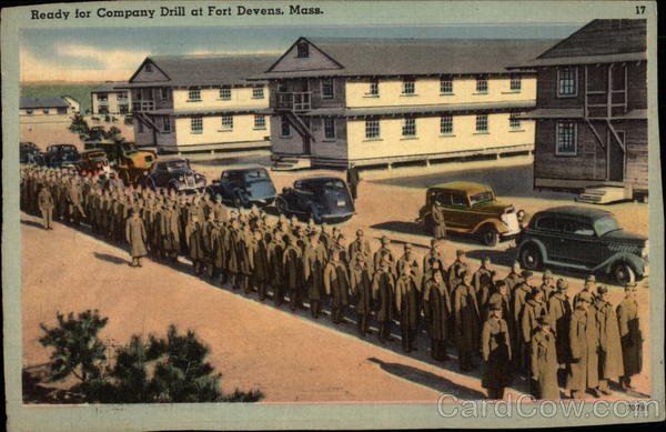 Ready for Company Drill Fort Devens Massachusetts