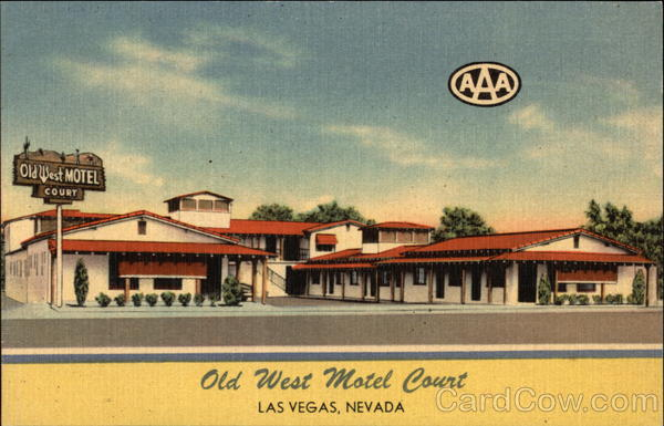 Old West Motel Court Las Vegas Nevada