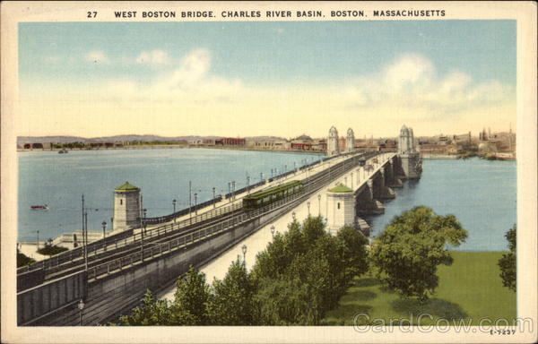 West Boston Bridge, Charles River Basin Massachusetts