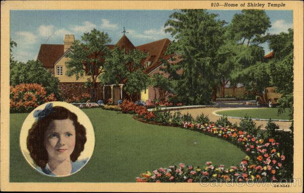 810-Home of Shirley Temple Celebrities