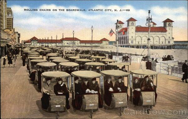 rolling chairs on the boardwalk atlantic city nj